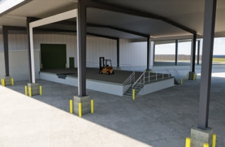 STORAGE SPACE  New building's expanded warehouse and fleet space will improve member service
